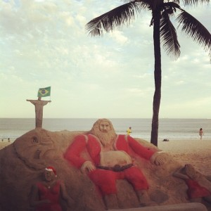 Santa Working On His Tan In Rio